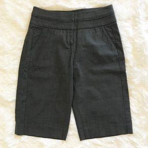 Bebe Wool Dress Shorts Charcoal Gray sz 2